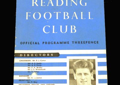 Reading v Crystal Palace 08.02.1958