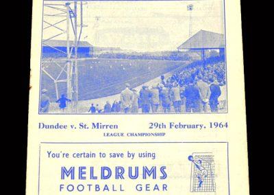 St Mirren v Dundee 29.02.1964