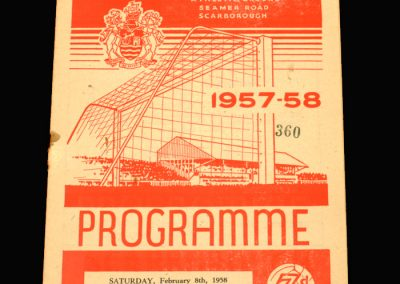 Scarborough v Goole 08.02.1958