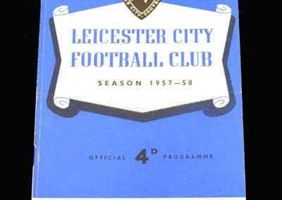 Leicester v Aston Villa 08.02.1958