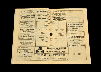 St Mirren v Partick Thistle 14.03.1964