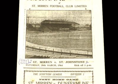 St Mirren v St Johnstone 28.03.1964