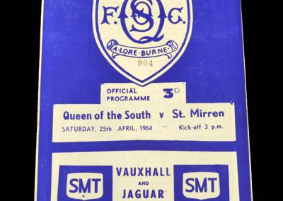 St Mirren v Queen of the South 25.04.1964