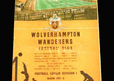 Wolves v Birmingham 22.02.1958