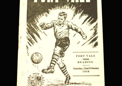 Port Vale v Reading 22.02.1958