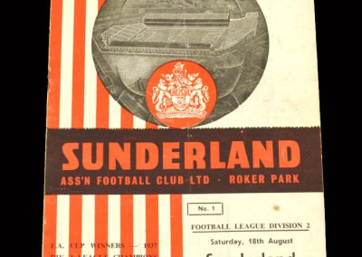 Sunderland v Middlesbrough 18.08.1962