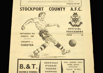 Stockport v Chester 08.03.1958