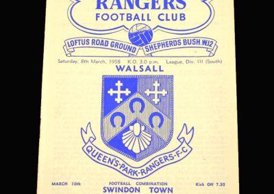 QPR V Walsall 08.03.1958