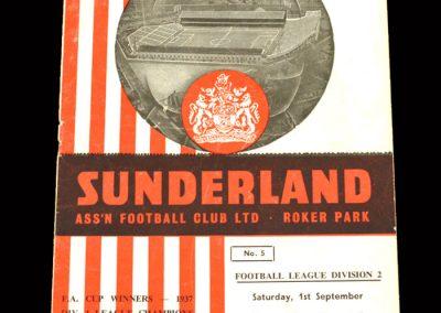 Sunderland v Swansea 01.09.1962