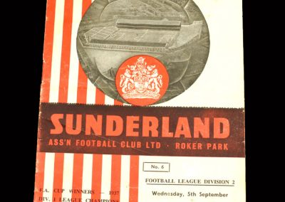 Sunderland v Rotherham 05.09.1962