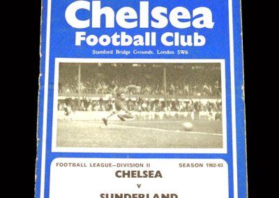 Sunderland v Chelsea 08.09.1962