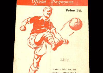 Sunderland v Rotherham 11.09.1962