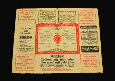 Doncaster v Derby 29.03.1958