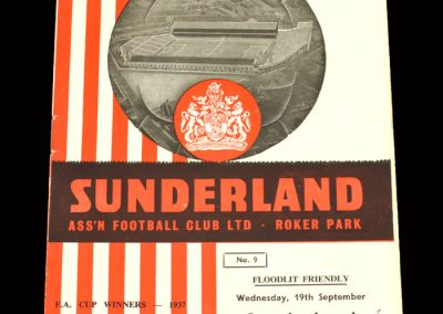 Sunderland v Standard Liege 19.09.1962 (Friendly)