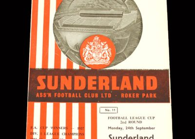 Sunderland v Oldham 24.09.1962 - League Cup 2nd Round