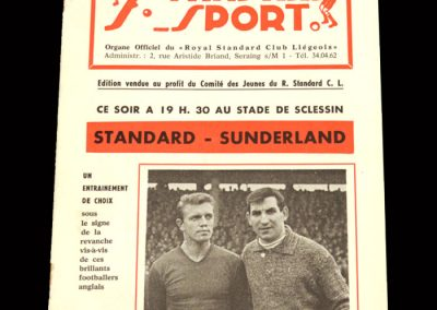 Sunderland v Standard Liege 03.10.1962 (Friendly)