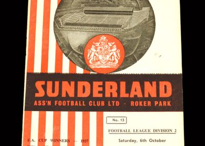 Sunderland v Derby 06.10.1962