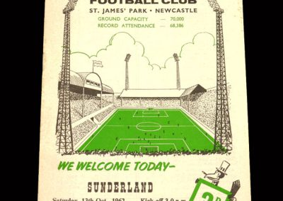 Sunderland v Newcastle 13.10.1962