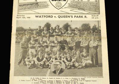 Watford v QPR 12.04.1958