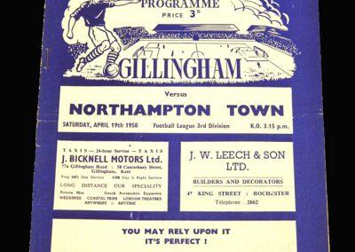 Gillingham v Northampton 19.04.1958