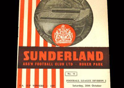 Sunderland v Walsall 20.10.1962