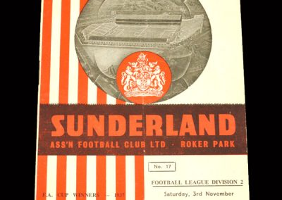 Sunderland v Grimsby 03.11.1962