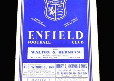 Enfield v Walton 26.04.1958
