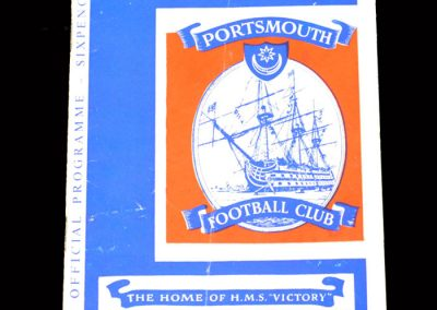 Sunderland v Portsmouth 14.11.1962 - League Cup 4th Round