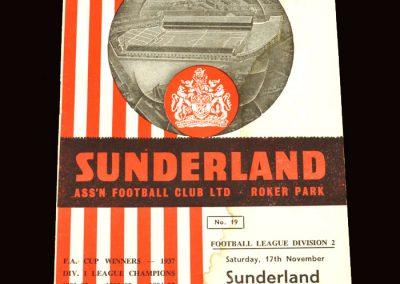Sunderland v Preston 17.11.1962