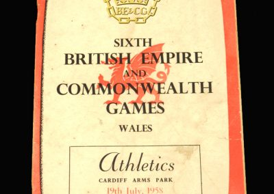 Empire Games Cardiff 19.07.1958