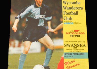 Wycombe v Swansea 22.03.1994 - FA Trophy Final South 2nd Leg