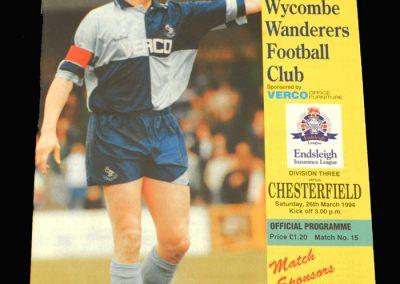 Wycombe v Chesterfield 26.03.1994