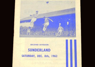 Sunderland v Huddersfield 08.12.1962