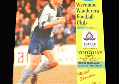 Wycombe v Torquay 02.04.1994