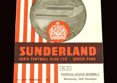 Sunderland v Bury 26.12.1962