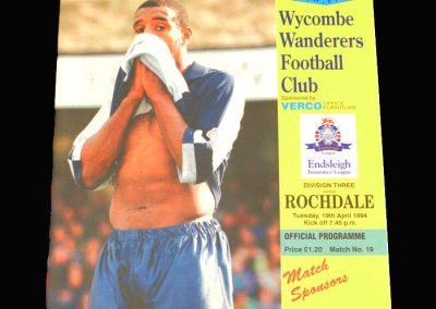 Wycombe v Rochdale 19.04.1994