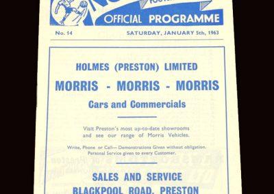 Sunderland v Preston 05.01.1963 - FA Cup 3rd Round