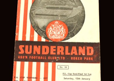 Sunderland v Aston Villa 12.01.1963 - League Cup Semi Final 1st Leg