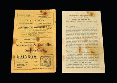Sunderland v Gravesend & Northfleet (Ebbsfleet United) 12.02.1963 - FA Cup 2nd Round