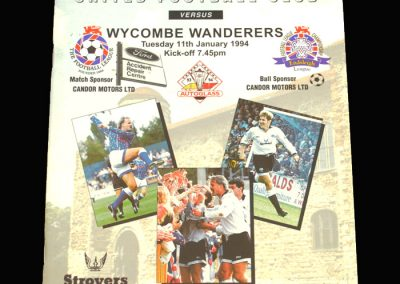 Wycombe v Colchester 11.01.1994 - FA Trophy Quarter Final South