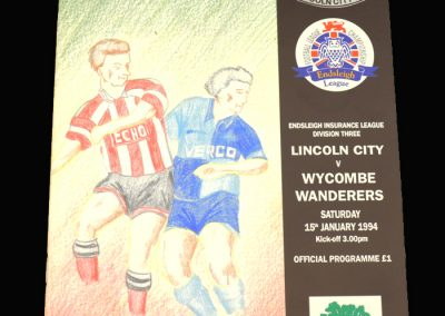 Wycombe v Lincoln 15.01.1994