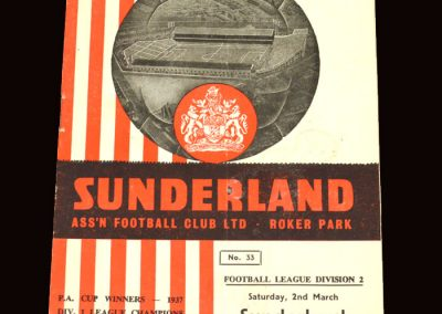 Sunderland v Newcastle 02.03.1963