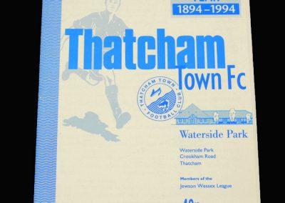 Wycombe v Thatcham 01.02.1994 - B&B Senior