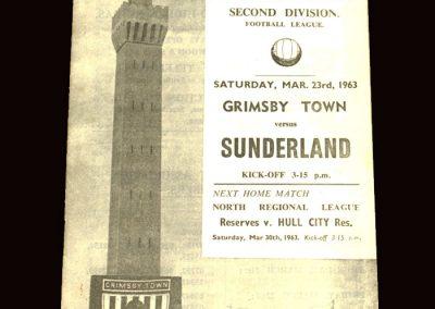 Sunderland v Grimsby 23.03.1963