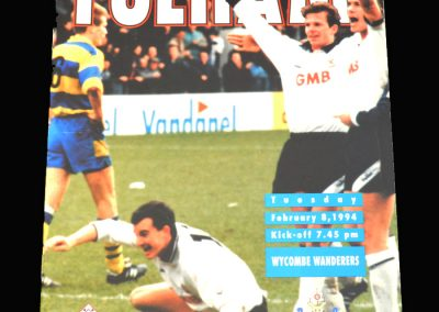 Wycombe v Fulham 08.02.1994 - FA Trophy Semi Final South