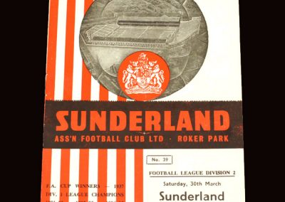 Sunderland v Plymouth 30.03.1963