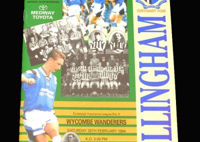 Wycombe v Gillingham 26.02.1994