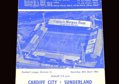 Sunderland v Cardiff 20.04.1963