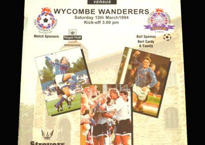 Wycombe v Colchester 12.03.1994