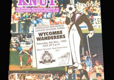 Wycombe v Scunthorpe 06.11.1994